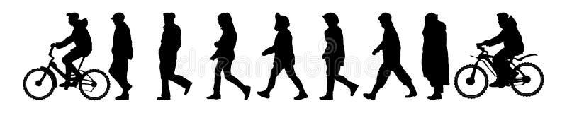 Пеший поход Задействуя след Мужчины иллюстрация вектора