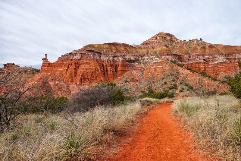 Пеший путь в каньоне Техасе Duro Palo стоковое фото rf