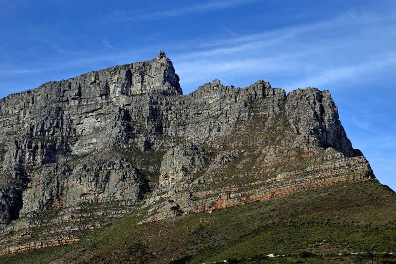 Пеший туризм на горе таблицы, Кейптаун, Южная Африка стоковые фотографии rf