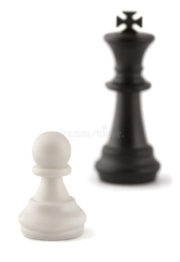 Пешка и король шахмат стоковое изображение rf