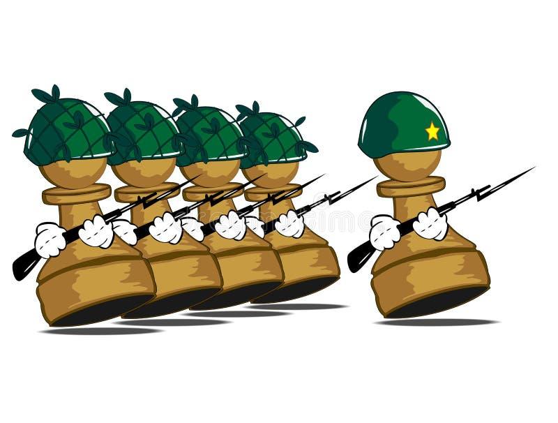 пешки армии иллюстрация вектора