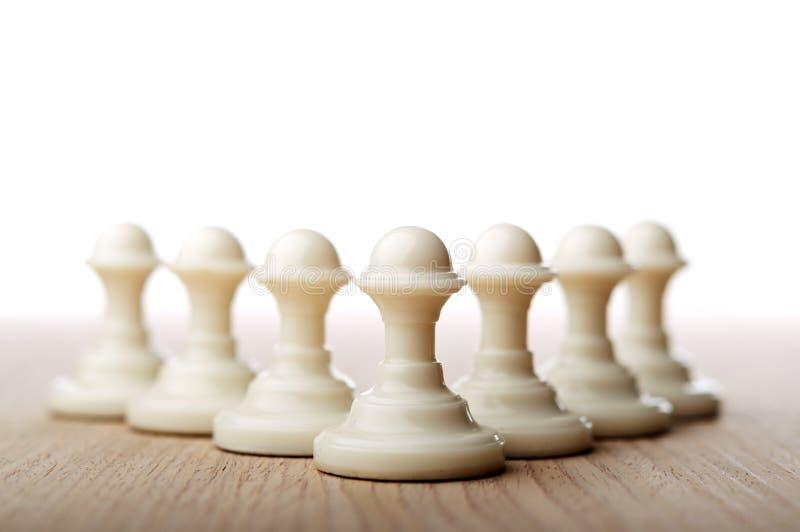 Пешки шахмат стоковые фотографии rf