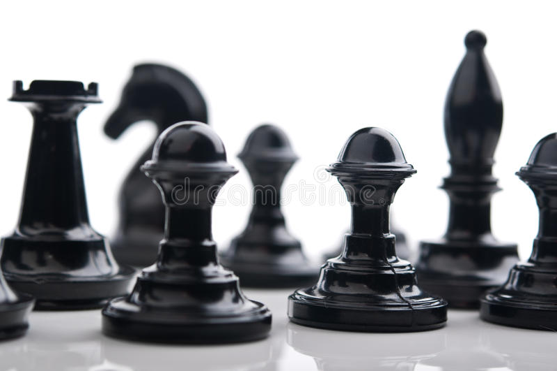 Пешки шахмат стоковое изображение rf