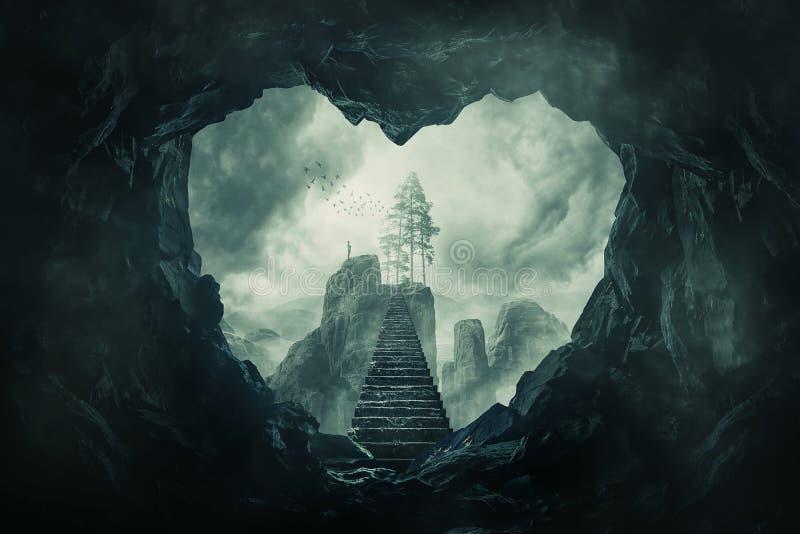 Пещера вашего сердца иллюстрация вектора