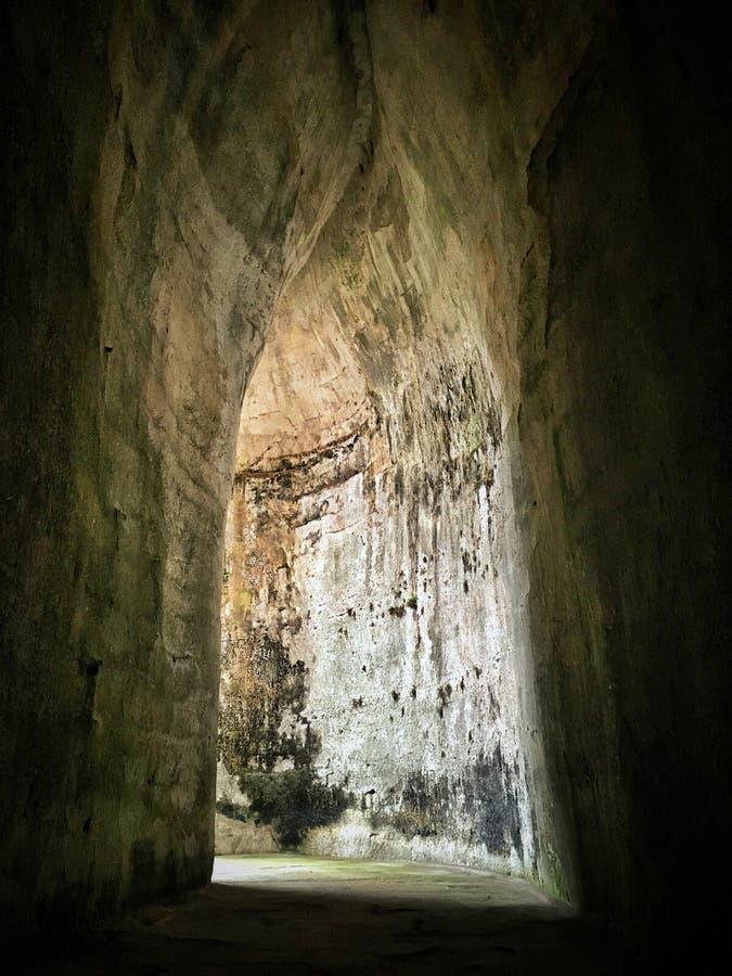 Пещера в Сиракузе стоковые изображения rf