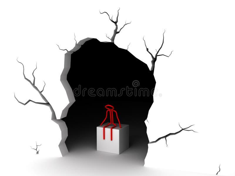 Пещера на белой предпосылке иллюстрация вектора
