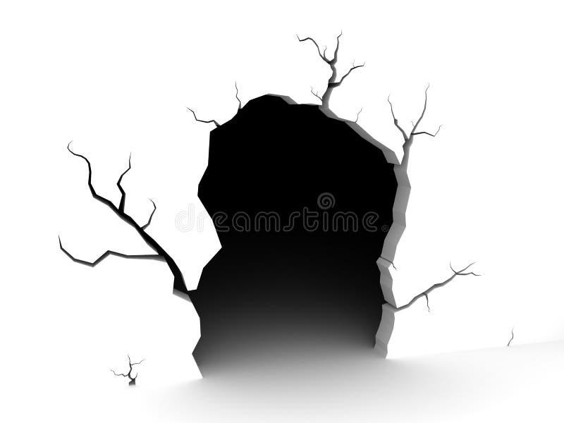 Пещера на белой предпосылке иллюстрация штока