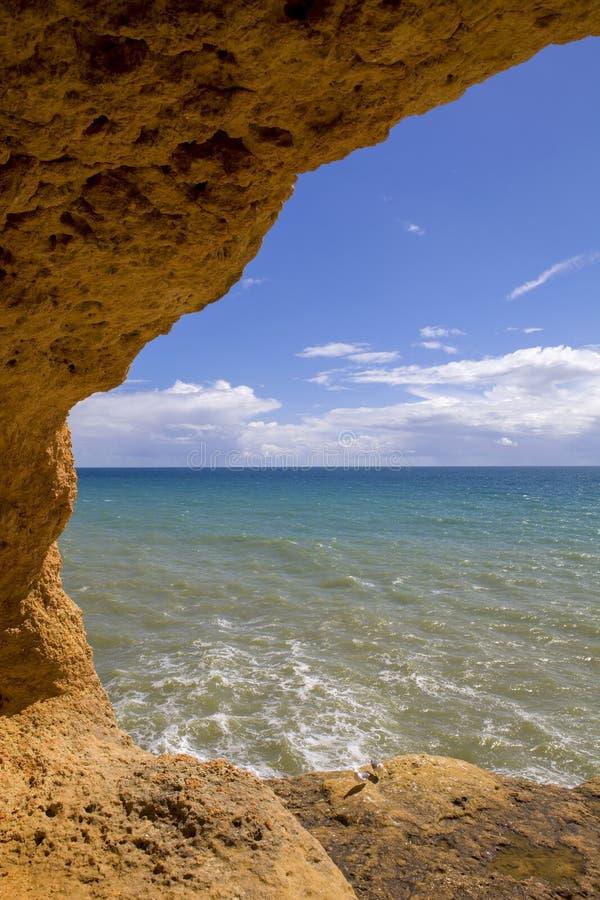 Пещера океана стоковые фотографии rf