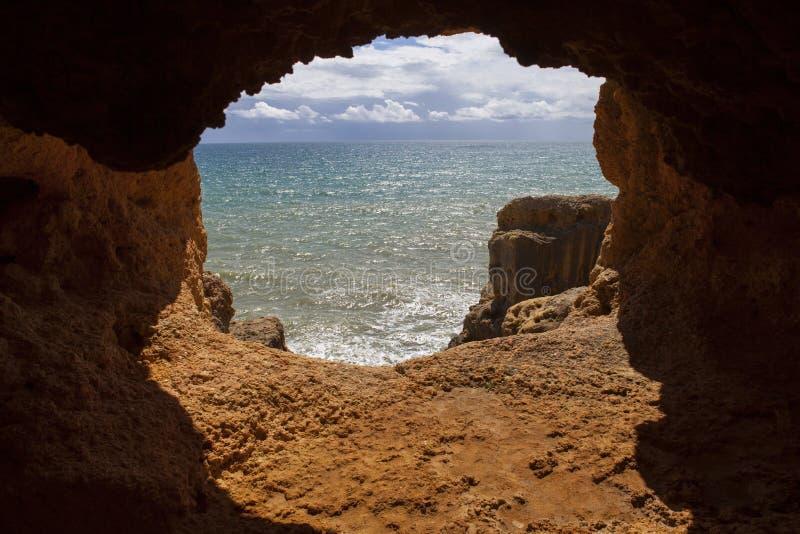 Пещера океана стоковое изображение