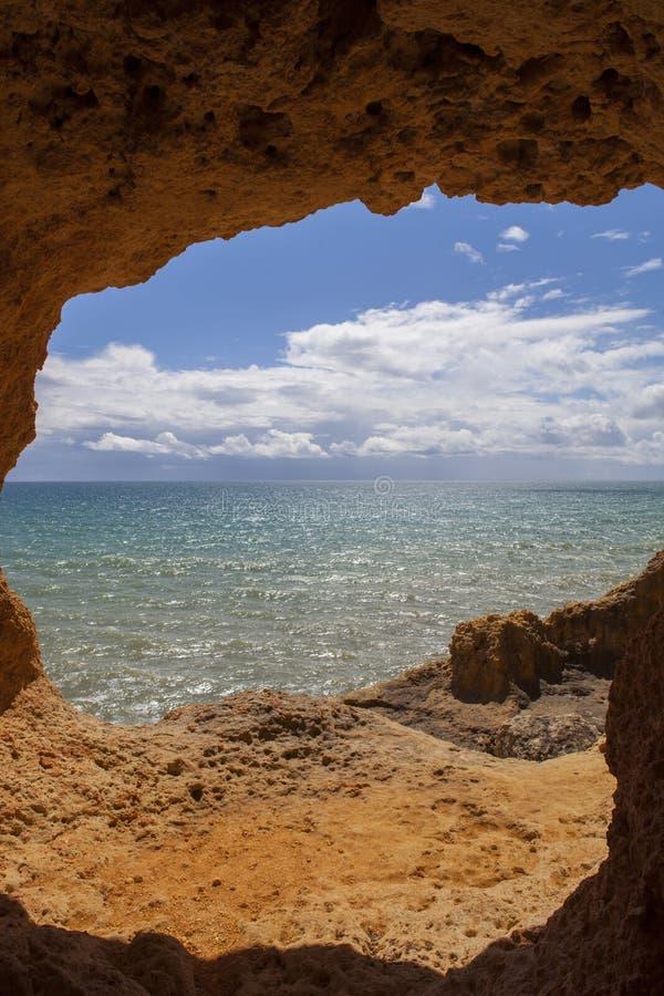 Пещера океана стоковое фото