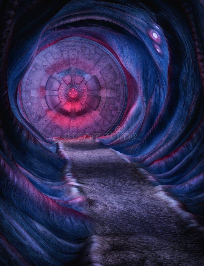 Пещера чужеземца иллюстрация вектора