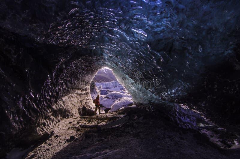 Пещера льда стоковое фото rf