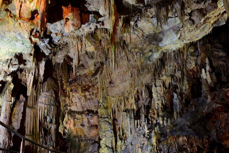 Пещера Diros - mani - Греция стоковая фотография rf