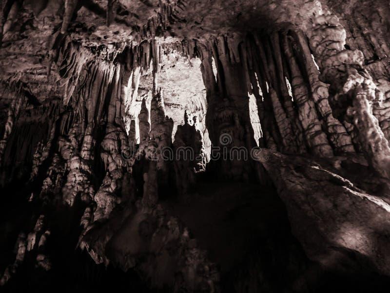Пещера Perama, Epirus, Греция стоковая фотография rf