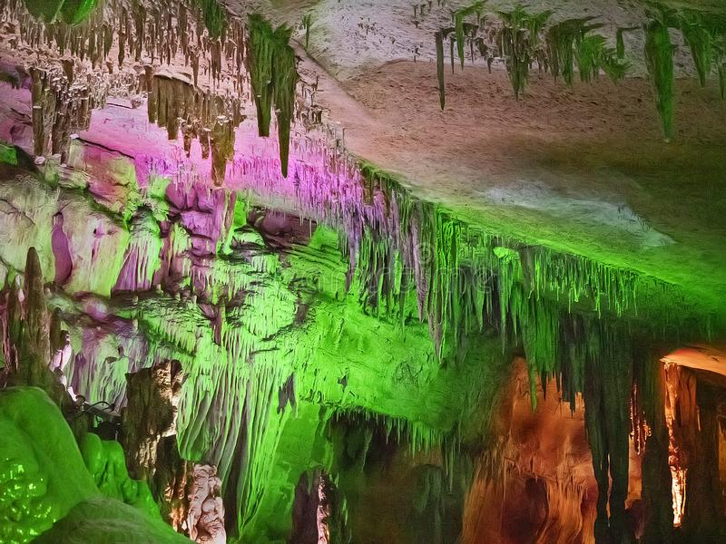 Пещера Prometheus в Республике Грузия стоковое изображение