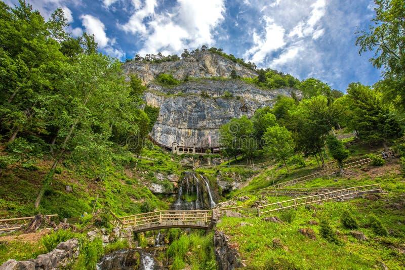 Пещера St Beatus в озере Thun около Интерлакена, кантона Bern, Швейцарии, Европы стоковые изображения