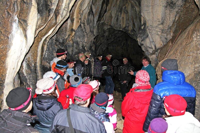 Пещера Stanisovska, Словакия стоковые фото