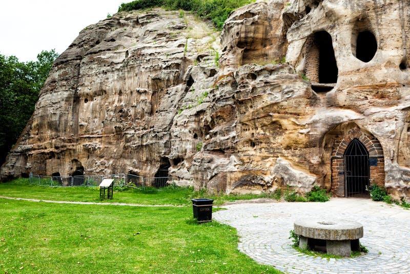 Пещеры на Ноттингеме стоковое изображение