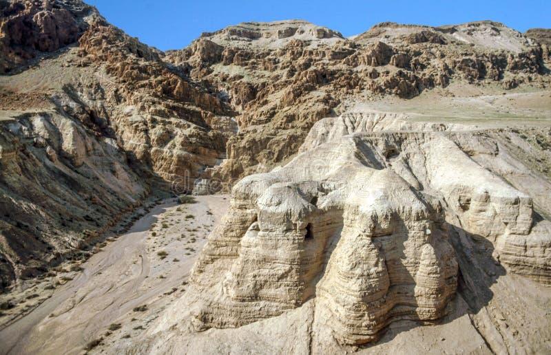 Пещеры на Qumran стоковые изображения
