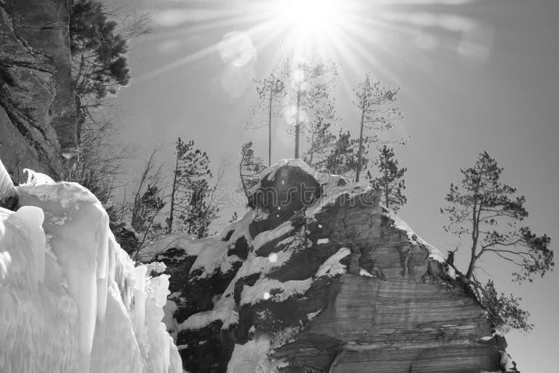 Пещеры льда Висконсина - Lake Superior стоковая фотография