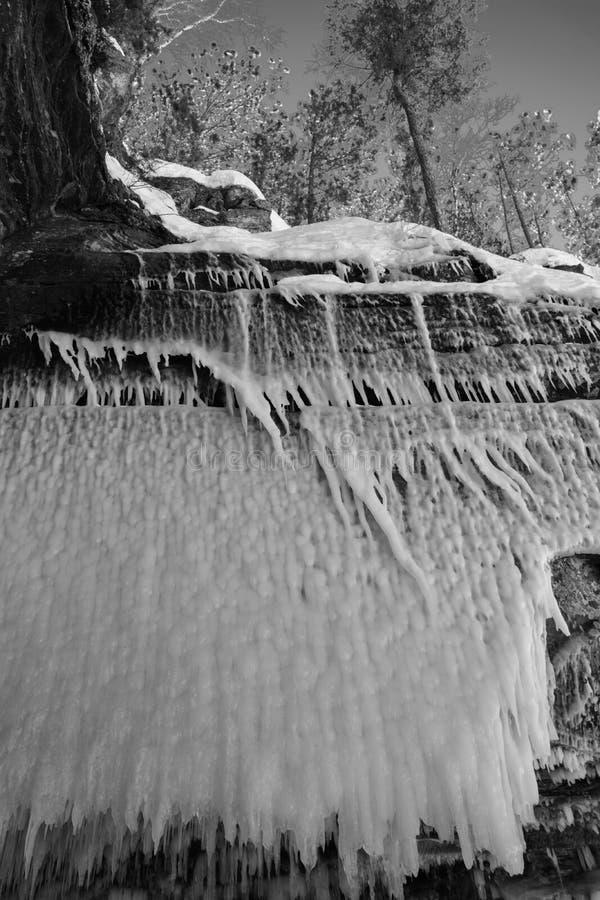 Пещеры льда Висконсина - Lake Superior стоковое фото