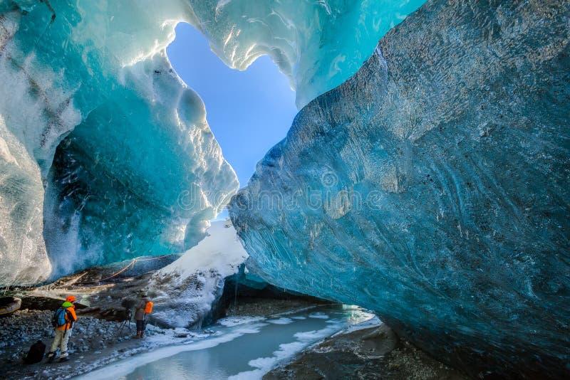 Пещеры льда в Исландии стоковое изображение rf