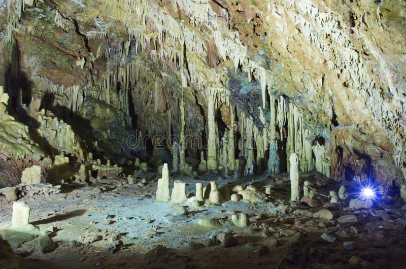 Пещеры Diros стоковое изображение rf