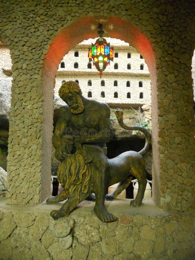 Пещеры hercules в tanger Марокко стоковые изображения rf