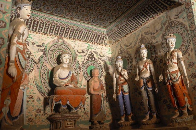 Пещеры Mogao в Дуньхуане, Китае стоковые изображения rf