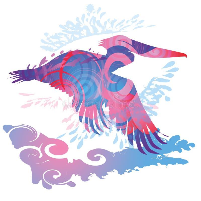 Пеликан летания бесплатная иллюстрация