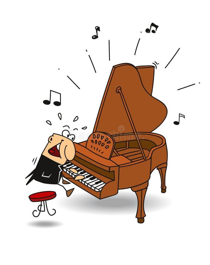 Пианист виртуозности бесплатная иллюстрация