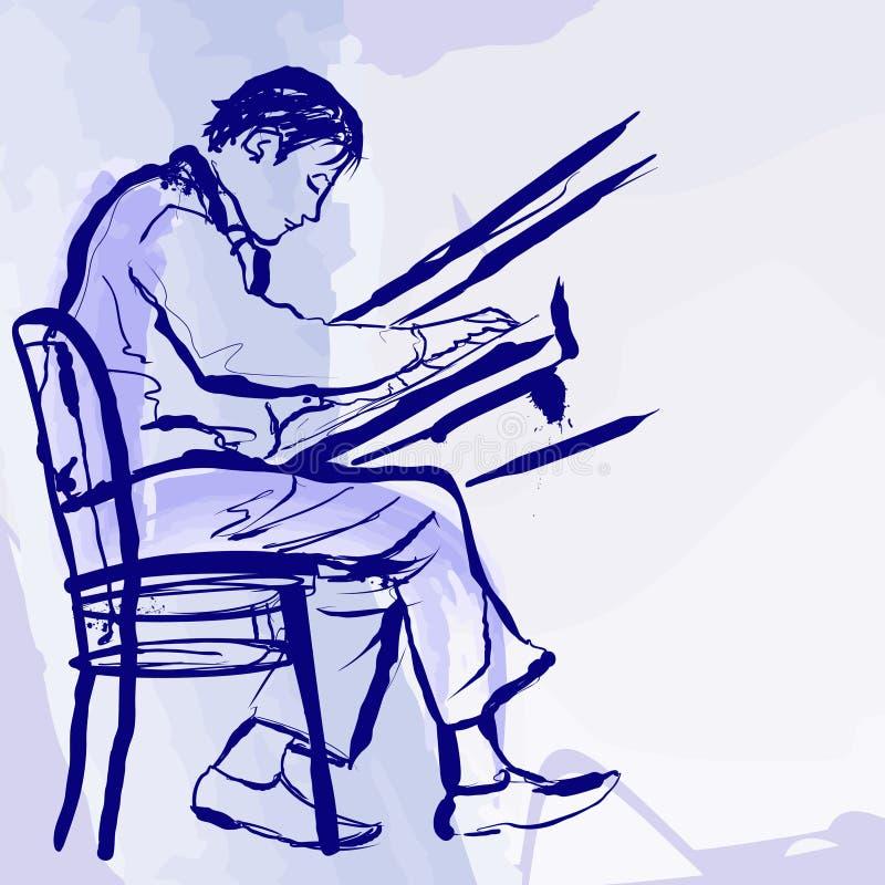 Пианист джаза на этапе в типе акварели бесплатная иллюстрация