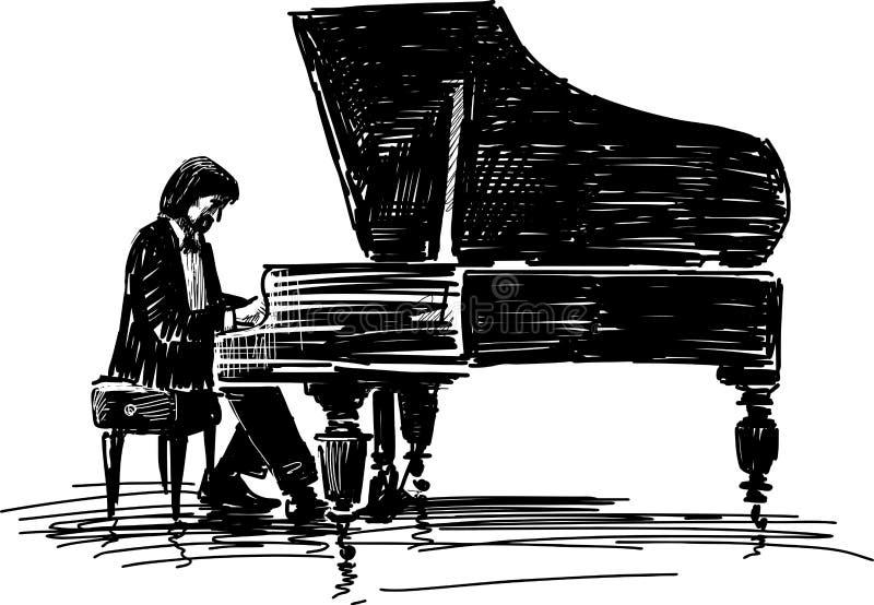 Пианист иллюстрация штока