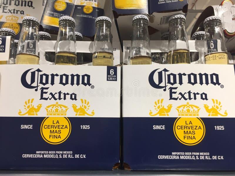 Пивные бутылки короны стоковая фотография rf