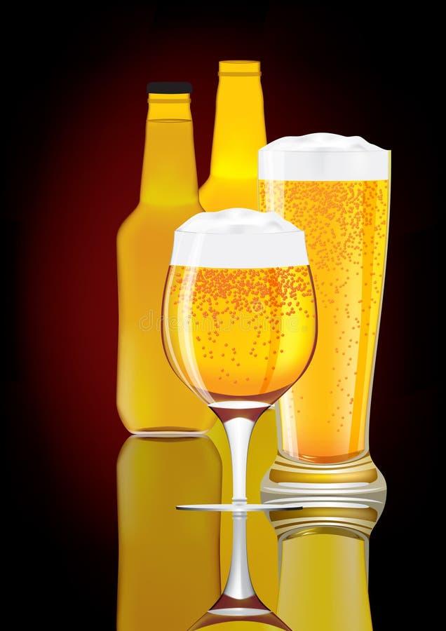 Пиво вектора. иллюстрация штока