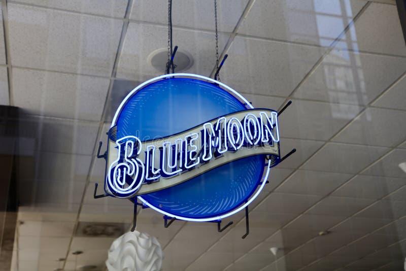 Пиво голубой луны стоковые изображения rf