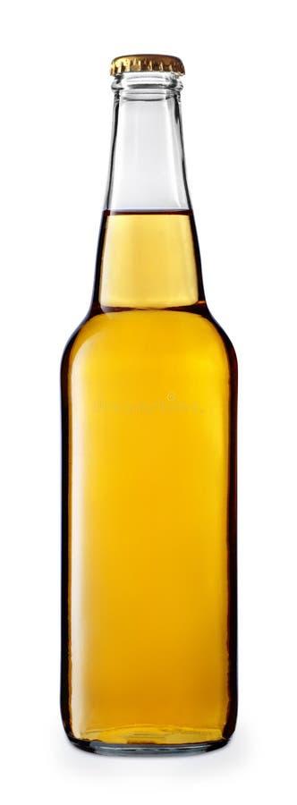 Пиво или сидр в стеклянной бутылке стоковые изображения rf