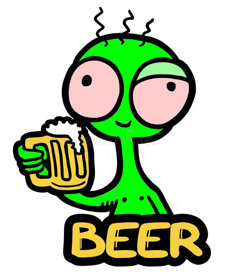 Пиво и марионетка иллюстрация вектора