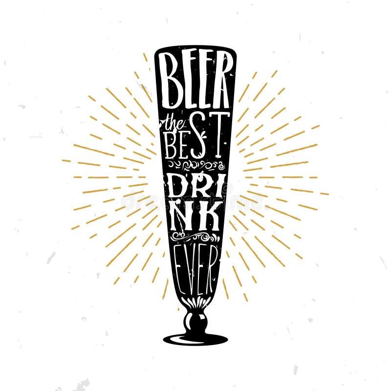 Пиво иллюстрация самого лучшего пива оформления вектора питья вечно- тематическая иллюстрация вектора