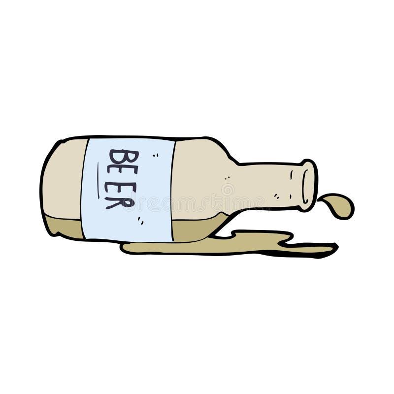 пиво разлитое шаржем иллюстрация вектора