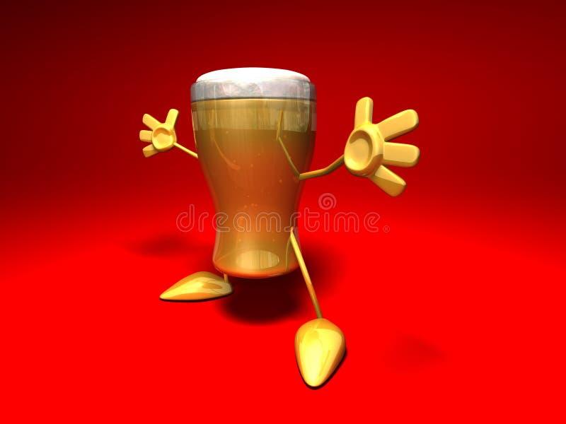 пиво счастливое иллюстрация штока
