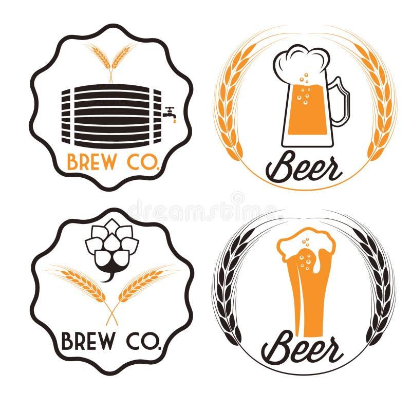 пиво emblems бар бесплатная иллюстрация