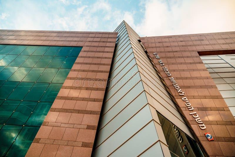 ПИВО SHEVA, ИЗРАИЛЬ - 21-ОЕ ЯНВАРЯ 2018: Взгляд на охраняющем здании в пиве Sheva стоковое фото