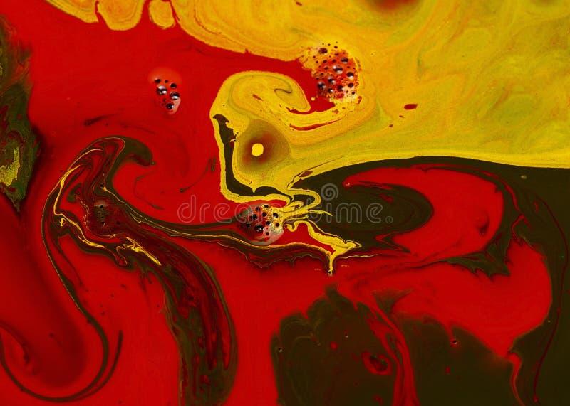 пигменты покрашенные абстрактным искусством жидкие стоковые изображения