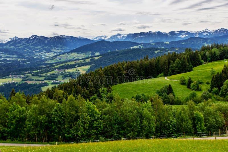 Пики Альп и луга, Австрия стоковое фото