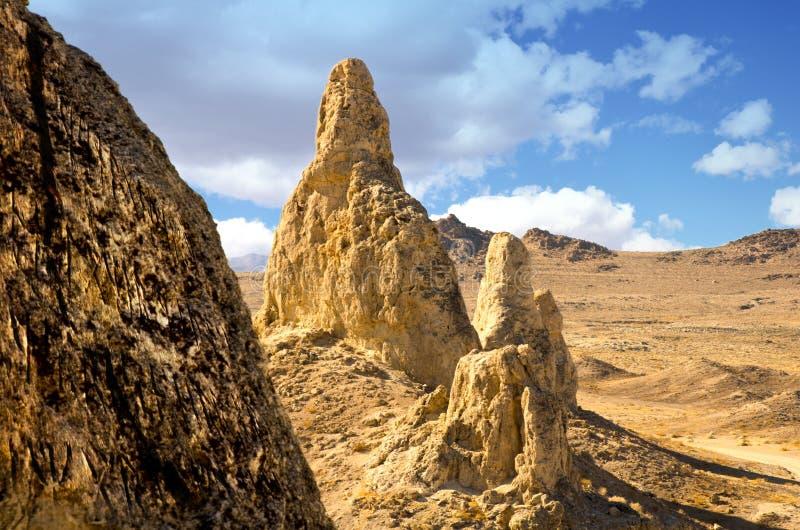 Пики башенк Trona стоковая фотография rf