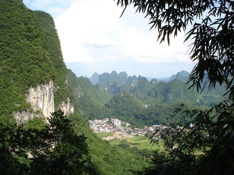 Пики Yangshuo стоковая фотография