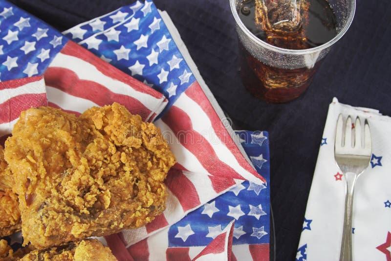пикник независимости дня стоковая фотография