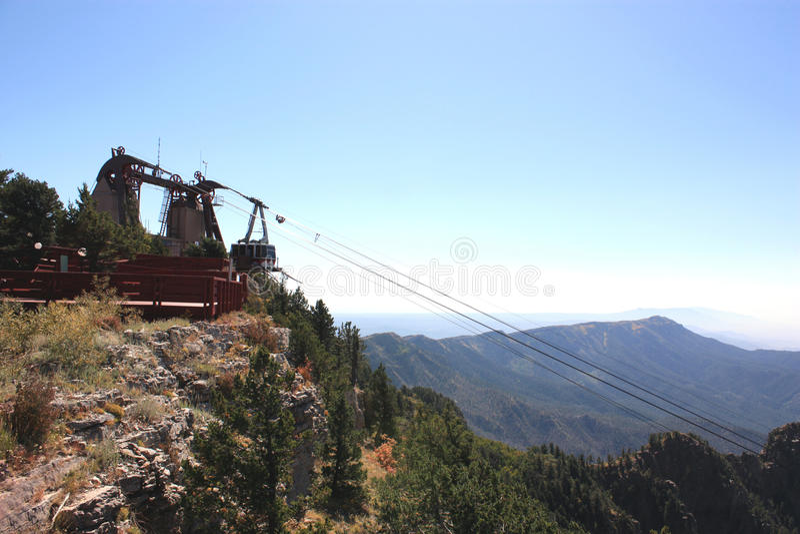 пиковый tramway sandia стоковые фотографии rf