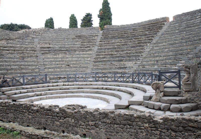 Пиколло Teatro в старом Помпеи, Италии стоковые изображения
